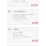 swifty(swiftの文法を学べるiOSアプリ)をインストールしてみた。