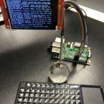 ラズパイ2に、液晶モジュール(M-TM022-SPI) & Bluetoothミニキーボード(RT-MWK02)を接続して、モバイル仕様にしてみた(^_^)/