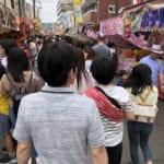 横浜のお祭り@浅間下。今年は上の子が熱を出したので、下の子と二人っきりで行ってきた。